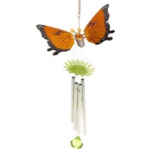 Dekoratives Windspiel Schmetterling Feng-Shui Orange 40cm Bild 1