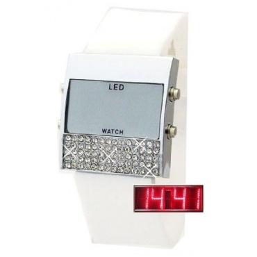 Damen Glamour LED Uhr WEISS BU-445 Bild 1