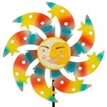 Windspiel Sunface SPRING Metallwindrad Sonne Garten Deko Bild 1