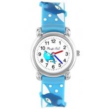 Pacific Time Kinder Armbanduhr Delphin Analog blau  Bild 1