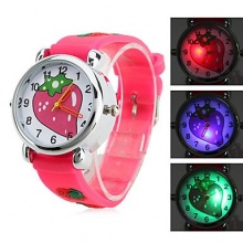 LZX Kinder Silikon Analog Quarz Armbanduhr  Bild 1