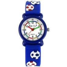 Pacific Time Kinder Armbanduhr Fußball Analog blau  Bild 1