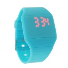 Touch Uhr Digital Kinderuhr Silikon  blau Bild 1