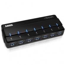 Anker Uspeed USB 3.0 7 Port Hub mit 12V 3A Netzteil Bild 1