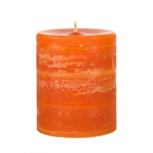 Outdoor Kerzen Stumpen in Orange  Bild 1