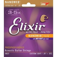 Elixir 16027 Acoustic Guitar Saiten 6 Acoustic Bronze Bild 1