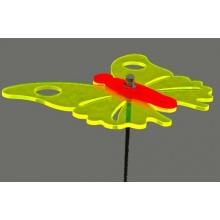 LISA DEKO Gartenstecker zweifarbiger Schmetterling gelb Bild 1
