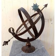 Sonnenuhr, Modell: Sonne, Skulptur aus Bronze Bild 2