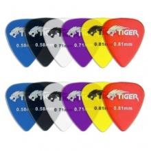 Tiger GAC65-12 Tiger 12 Gitarrenplektren durchsichtig Bild 1
