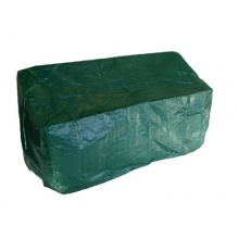 Abdeckhaube für Bank 2 sitzer 134cm grün PE Bild 1