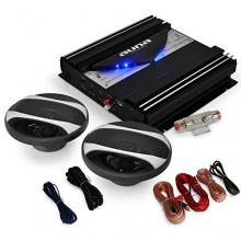 Auto 16cm Lautsprecher HiFi Set Black Line 200, 1400W Endstufe Bild 1