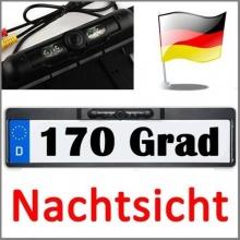 amzdeal Rückfahrkamera Nummernschild Kennzeichen Einparkhilfe 4LED Bild 1