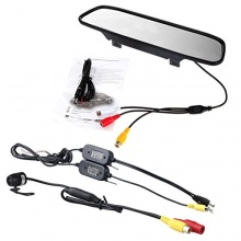 RXYYOS 4.3Zoll HD TFT LCD Monitor-Spiegel, Wasserdicht CCD Mini Auto Rückfahrkamera Bild 1