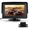 CARCHET 170GradIR Rückfahrkamera Auto Kamera, 4,3Zoll TFT LCD Monitor Nachtsicht Bild 1