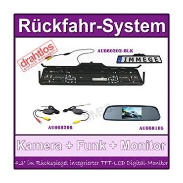 Rückfahrsystem Einparkhilfe 170Grad Farb klappbare Rückfahrkamera  Bild 1