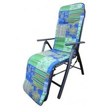 Doppler Relaxliegenauflage 1489 blau grün kariert Bild 1