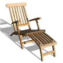 KMH, Deckchair  Echt Teak Bild 1