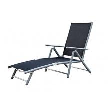 MERXX Deckchair Aluminium Bezug schwarz Bild 1
