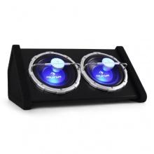Auna 2x25cm passiver Double Doppel Subwoofer Auto Lichteffekt, 1600 Watt, LED-Effekt Bild 1