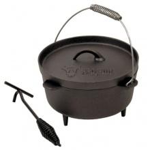 BBQ-Bull, DO4.5 Dutch Oven Topf, Kochtopf aus Gusseisen, Bräter Bild 1
