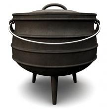 BBQ-Bull, Potjie, Gusseisen Kochtopf, Südafrikanischer Dutch Oven ,ca. 1 Liter Bild 1