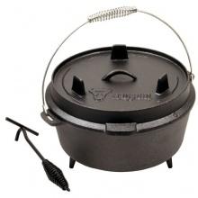 BBQ-Bull, DO4.5 Dutch Oven Topf, Gusseisen Kochtopf, Gusstopf Bild 1