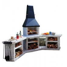 Toskana Quatro Grillkamin Außenküche, Wellfire von SPM Bild 1