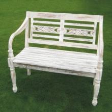 Gartenbank white 2 Sitzer Teak Bild 1