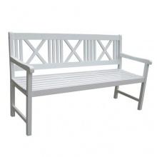 Gartenbank weiß 154cm 3 Sitzer  Bild 1
