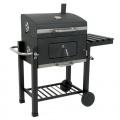 BBQ-Bull, Luxus Grillwagen Black Oak, Holzkohle Barbecue Grill, Smoker Bild 1