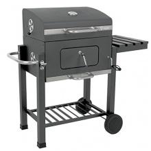 BBQ-Bull, Luxus Grillwagen Butternut, Holzkohle Barbecue Grill, Smoker Bild 1