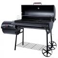BBQ Grill-Smoker Grillwagen Holzkohlegrill mit 2 Kammern von broilmaster Bild 1