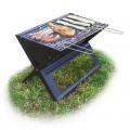 Relaxdays Praktischer Klappgrill tragbar, Picknickgrill Bild 1