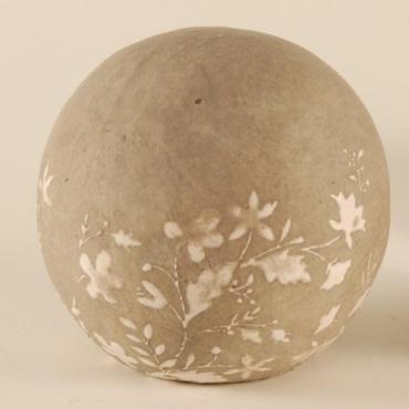 dekogartenkugel keramik beige creme d11cm test. Black Bedroom Furniture Sets. Home Design Ideas