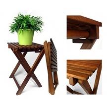 2er Set Gartenhocker Eukalyptusholz Bild 1
