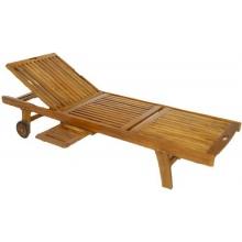 DIVERO Gartenliege Akazienholz Holz Bild 1