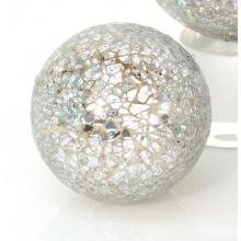 Dekokugel *Mosaiko* Deko Kugel Gartenkugel Kugel Mosaik Glas - Silber - D8,6cm Bild 1