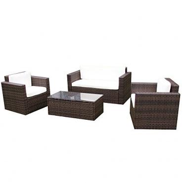 Gartenlounge Sitzgruppe Rattan brown Bild 1