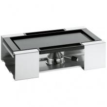 WMF 1790036030 Basis-Set Grillen COOK 2-teilig, Rechaud und Grillplatte, Tischgrill Bild 1