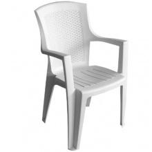Gartenstühle 2er Set Kunststoff Weiss Bild 1