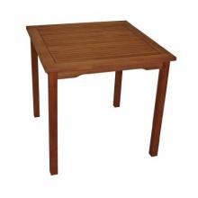 Gartentisch 80x80cm Eukalyptusholz Bild 1