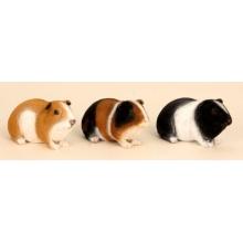 3 er Set Meerschweinchen Figuren für Haus und Garten Nagetiere Kleintiere Bild 1