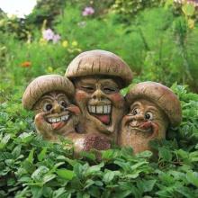 Pötschke Ambiente Gartenfigur Lustige Champignons Bild 1