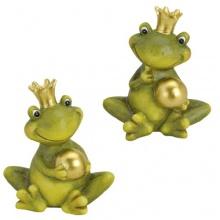Froschkönig deko mit Kugel Gartendeko Bild 1