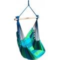 Hängesessel Baumwolle blau grün Bild 1