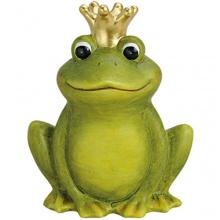 Froschkönig deko Frosch mit Krone  Bild 1