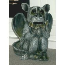 Drachen ist ängstlich Drache Deko Garten Figur Gartenfigur Skulptur Gargoyle Bild 1