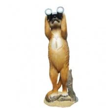 Erdmännchen Deko Garten Figur mit Fernglas Bild 1