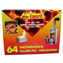 favorit 1249 Grillanzünder für Grill, Kamin und Ofen, 64-er Pack Bild 1