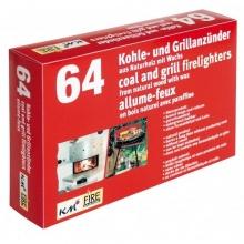 2 Schachteln mit 64 Grill- und Kaminanzünder aus Naturholz mit Wachs KM Match Bild 1